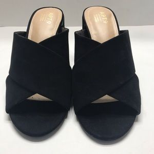 NEW Apt.9 Women's Block Heel Sandals Slip On 8.5